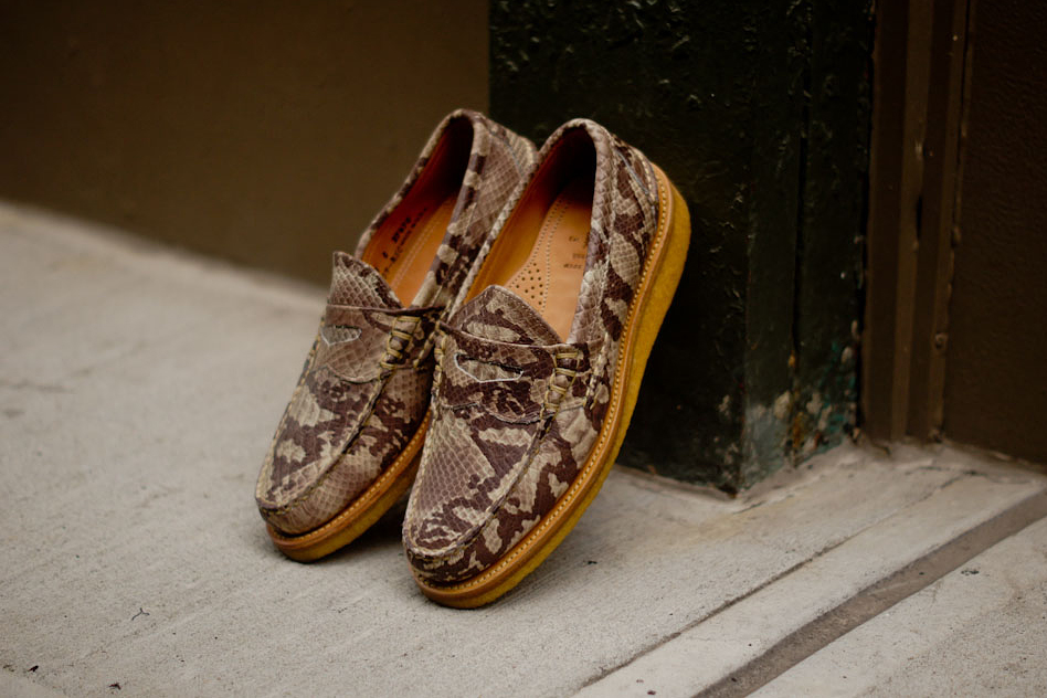 Ronnie Fieg x Yuketen 2013 Fall Snake Penny Loafer