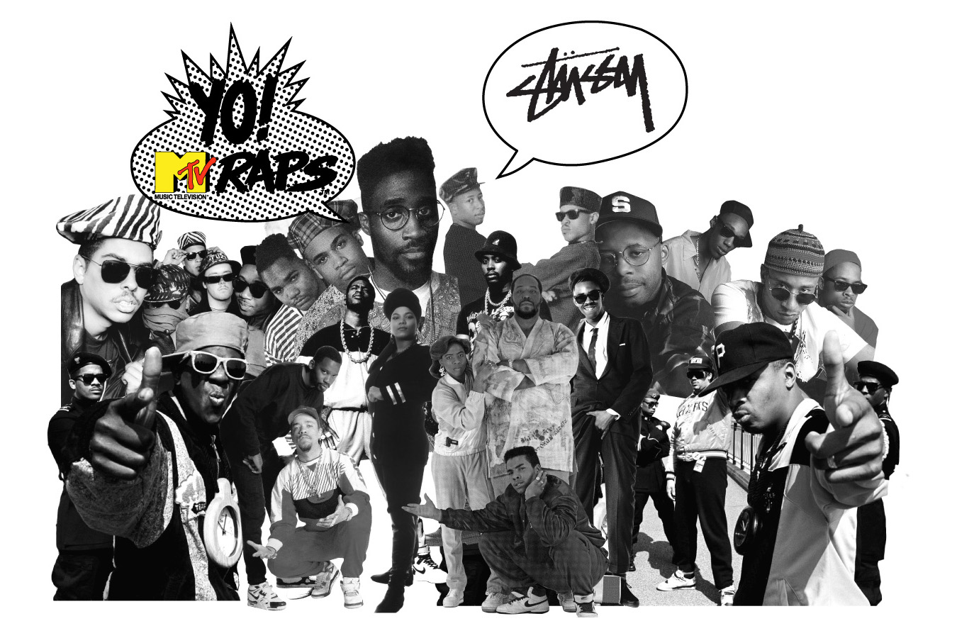 stussy x yo mtv raps collection