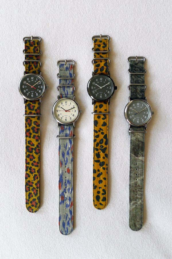suigeneric waxed cotton watch straps