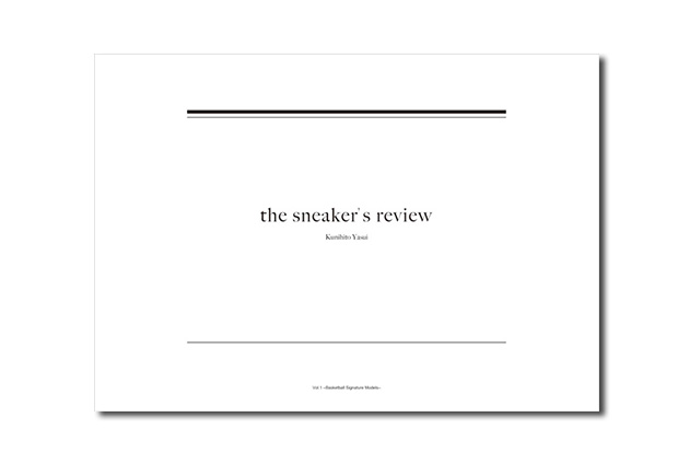 "The Sneaker's Review Vol.1 ""Basketball Signature Models"""