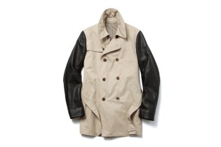 uniform experiment 2013 Fall/Winter LEATHER SLEEVE TRENCH COAT