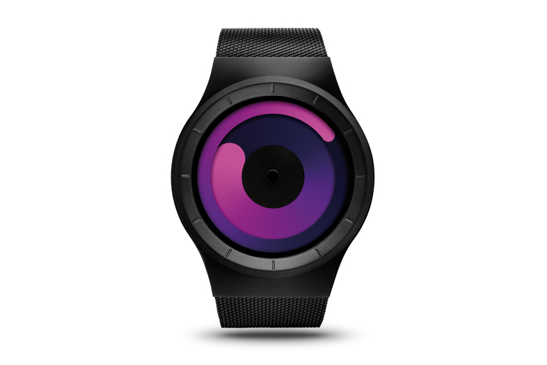 ziiiro mercury black purple watch