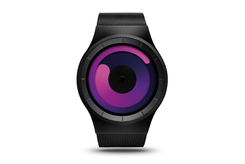 ZIIIRO Mercury Black-Purple Watch