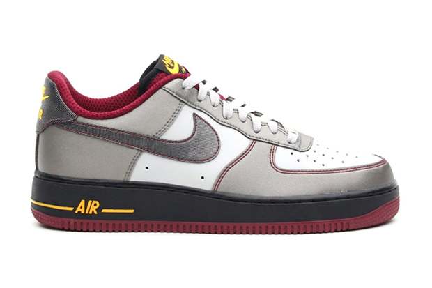 Nike Air Force 1 Dusty Grey/Metallic Pewter-Cherrywood Red