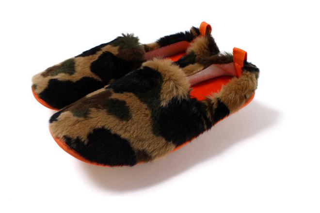 a bathing ape 2013 fall winter 1st camo fur room shoes