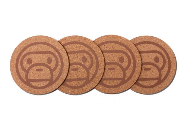 a bathing ape milo cork coaster