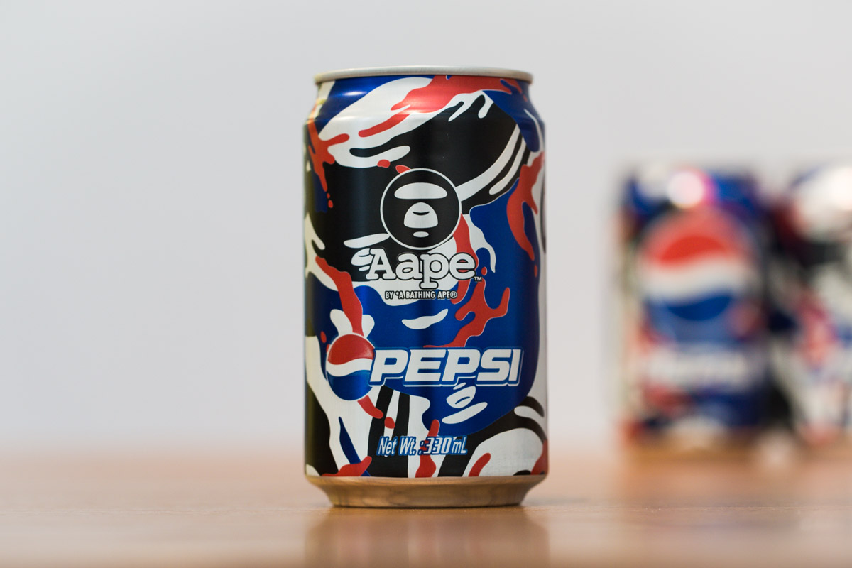 "AAPE by A Bathing Ape x Pepsi 2013 ""MOONFACE CAMO"" Cans"