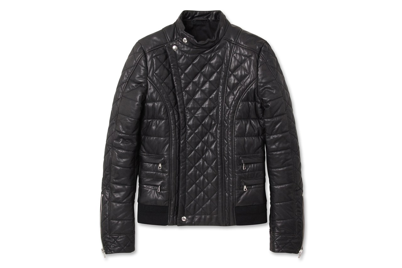 Balmain Quilted Leather Riders Jacket