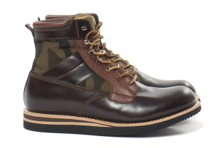 BePositive Brown Leather Army Boot