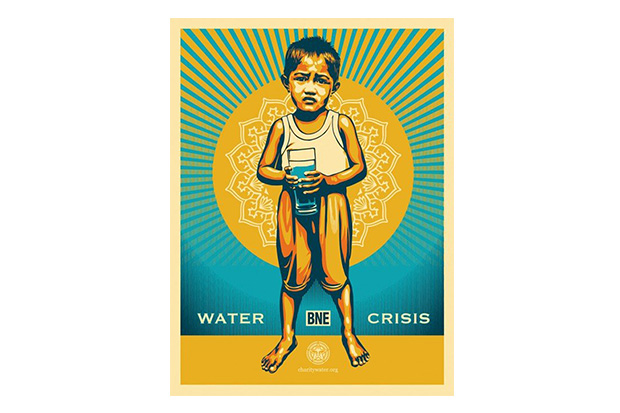 bne x shepard fairey print for charity water