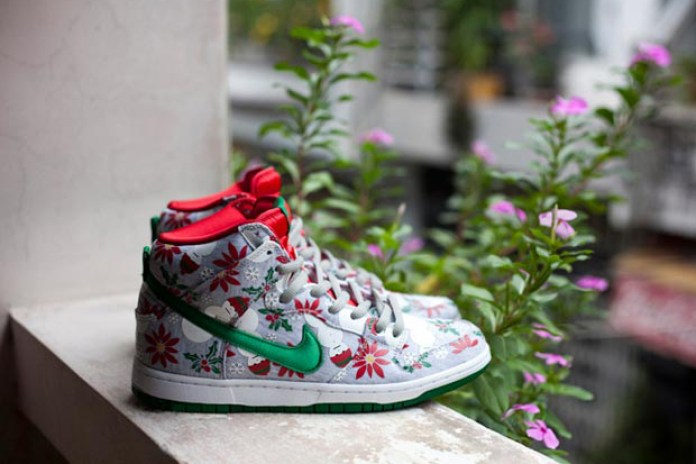 "Concepts x Nike SB Dunk High Premium ""Ugly Christmas Sweater"" Preview"