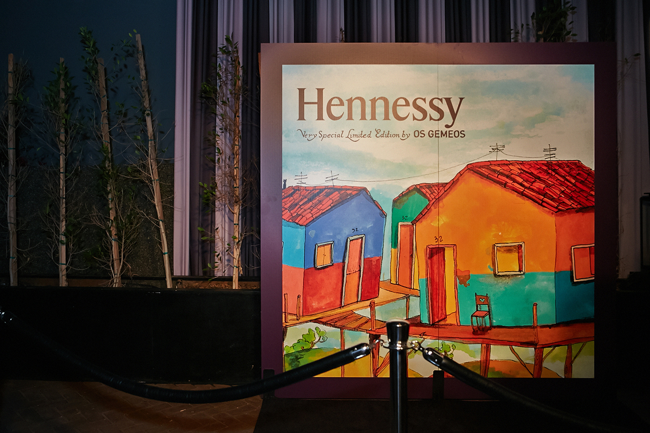 hennessy v s os gemeos limited edition bottle launch party emerson theatre recap