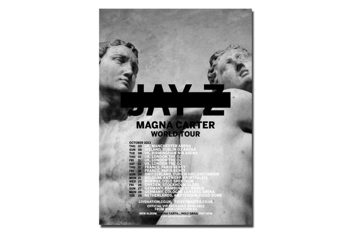 Jay Z Announces Magna Carter World Tour Starting October 3rd