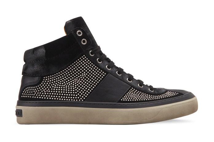 Jimmy Choo Suede Studs Sneaker