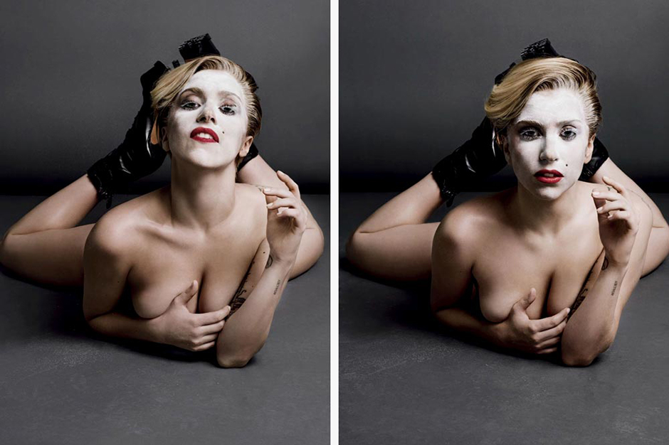 Lady Gaga's Entire Topless Editorial for V Magazine Issue 85