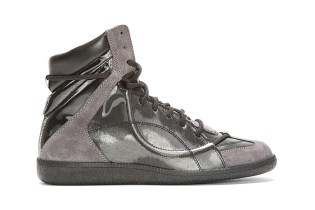 Maison Martin Margiela Black Reflective High-Top Sneakers