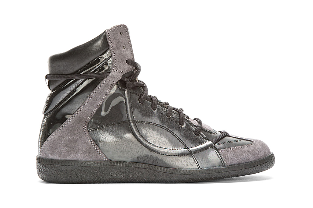 Maison Martin Margiela Black Reflective High-Top Sneakers