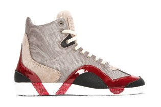 Maison Martin Margiela Grey Textured Painted Sneakers