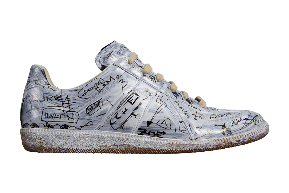 Maison martin margiela penned graffiti replica low top for Replica maison martin margiela