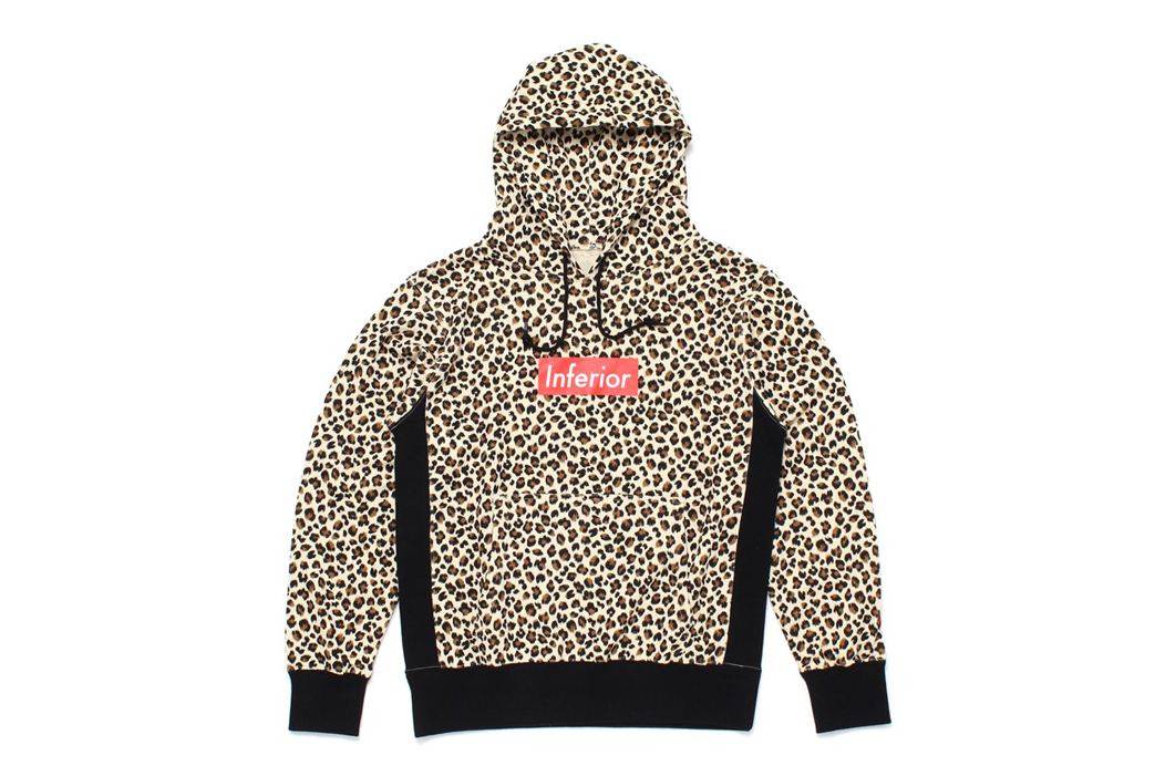 "Mark McNairy for Heather Grey Wall 2013 Fall/Winter ""Inferior"" Leopard Hoodie"