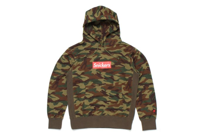 "Mark McNairy for Heather Grey Wall 2013 Fall/Winter ""Snickers"" Camo Hoodie"