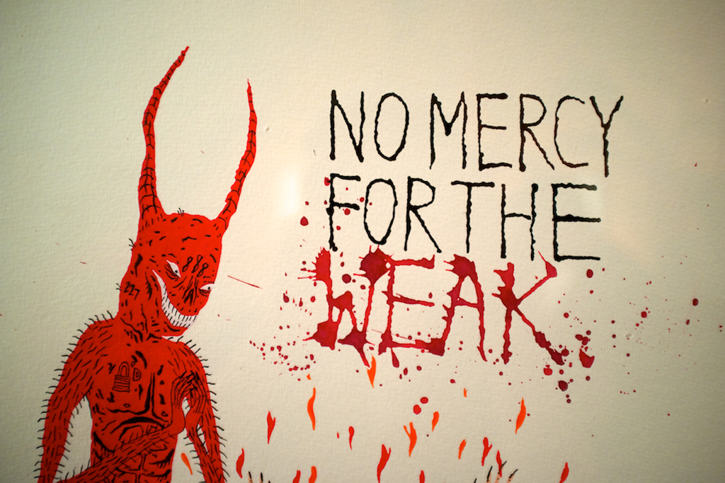 neck face no mercy for the weak exhibition new image art gallery recap
