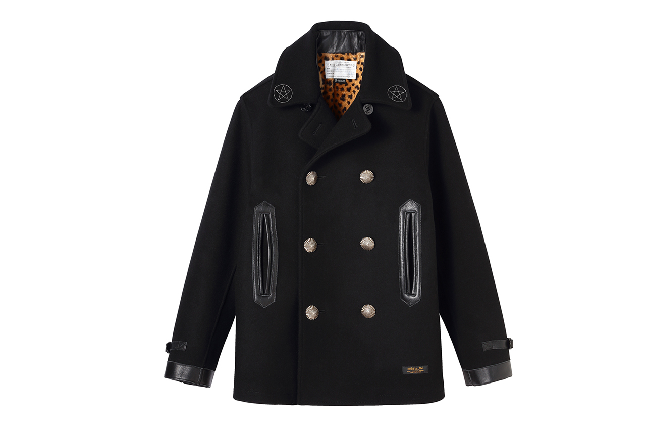 "NEIGHBORHOOD ""The Magnificient Seven"" Pea Coat for BLACK SENSE"
