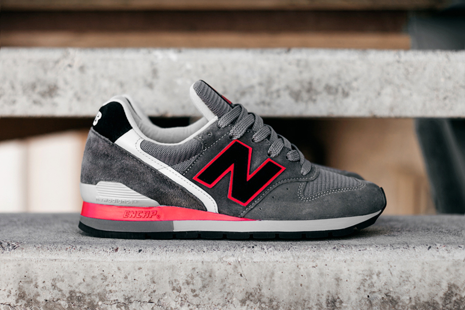 new balance m996 black grey red