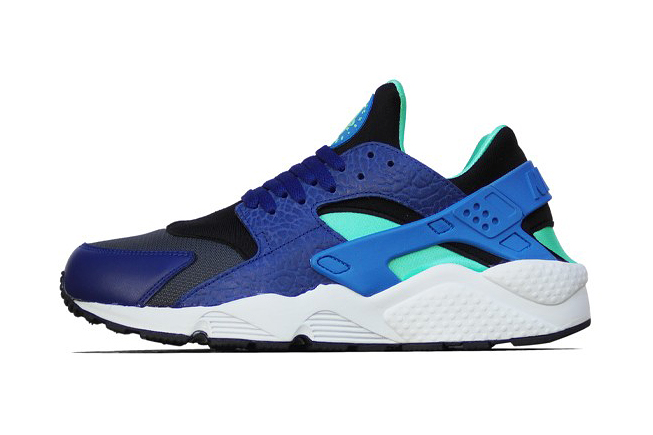 Nike Air Huarache Deep Royal Blue/Blue Hero-Green Glow-Black