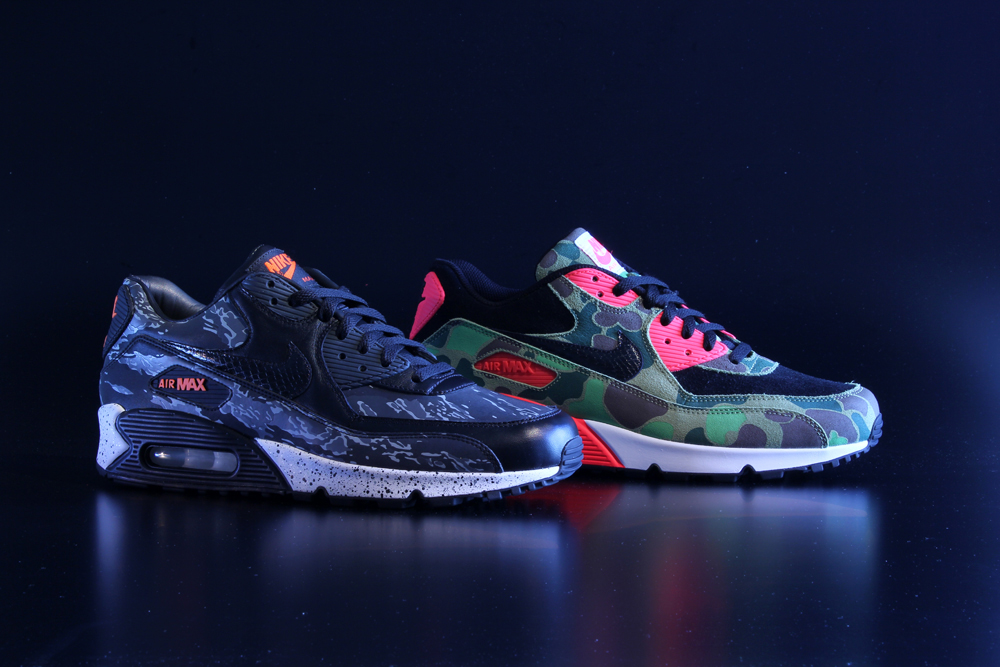 Nike Air Max 90 Premium Camo Pack atmos Exclusive Preview