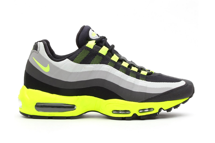 Nike Air Max 95 No Sew Black/Volt-Dark Charcoal-Midnight Fog