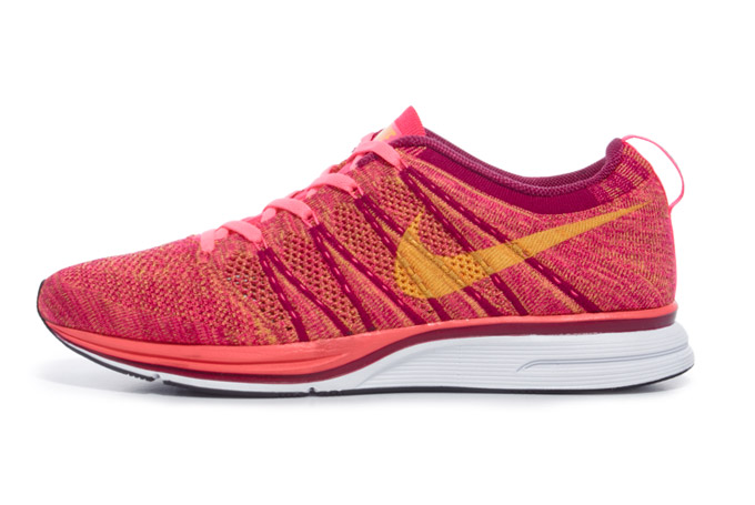 nike flyknit trainer pink flash laser orange raspberry red