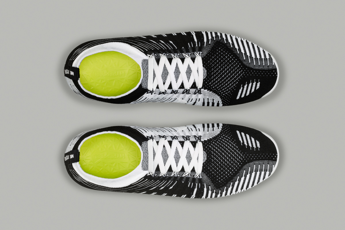 nike free hyperfeel black white