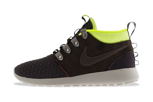 Nike Roshe Run Mid Winter Newsprint/Smoke-Volt-Total Crimson