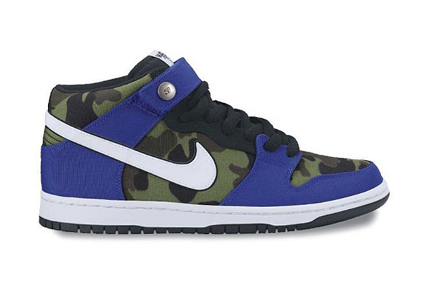 nike sb dunk mid royal camo