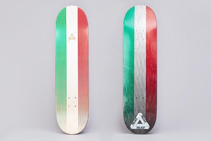 "Palace Skateboards Italy Team Deck - ""Linear Italia"""
