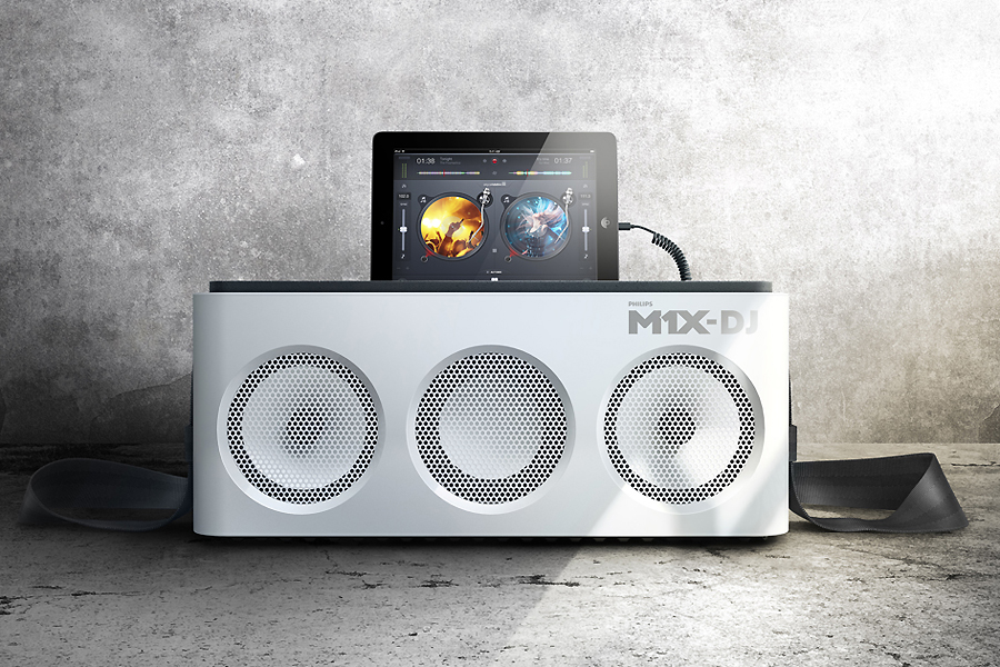 Philips M1X-DJ iPad Dock and Mixing Deck