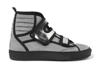 Raf Simons Woven Check High Top Sneaker