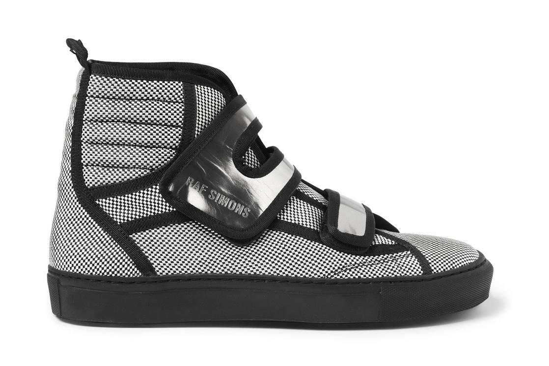 Raf Simons Woven Check High Top Sneaker