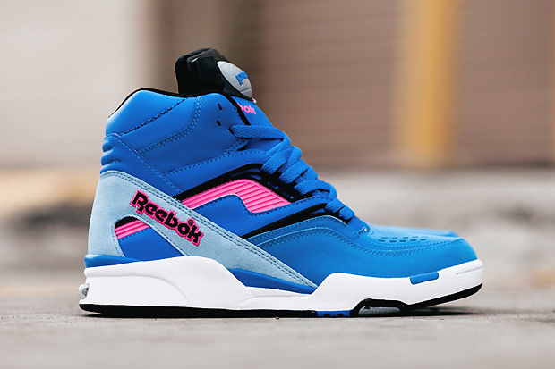 reebok twilight zone pump blue pink