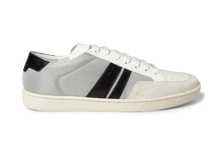 Saint Laurent Leather and Mesh Sneaker