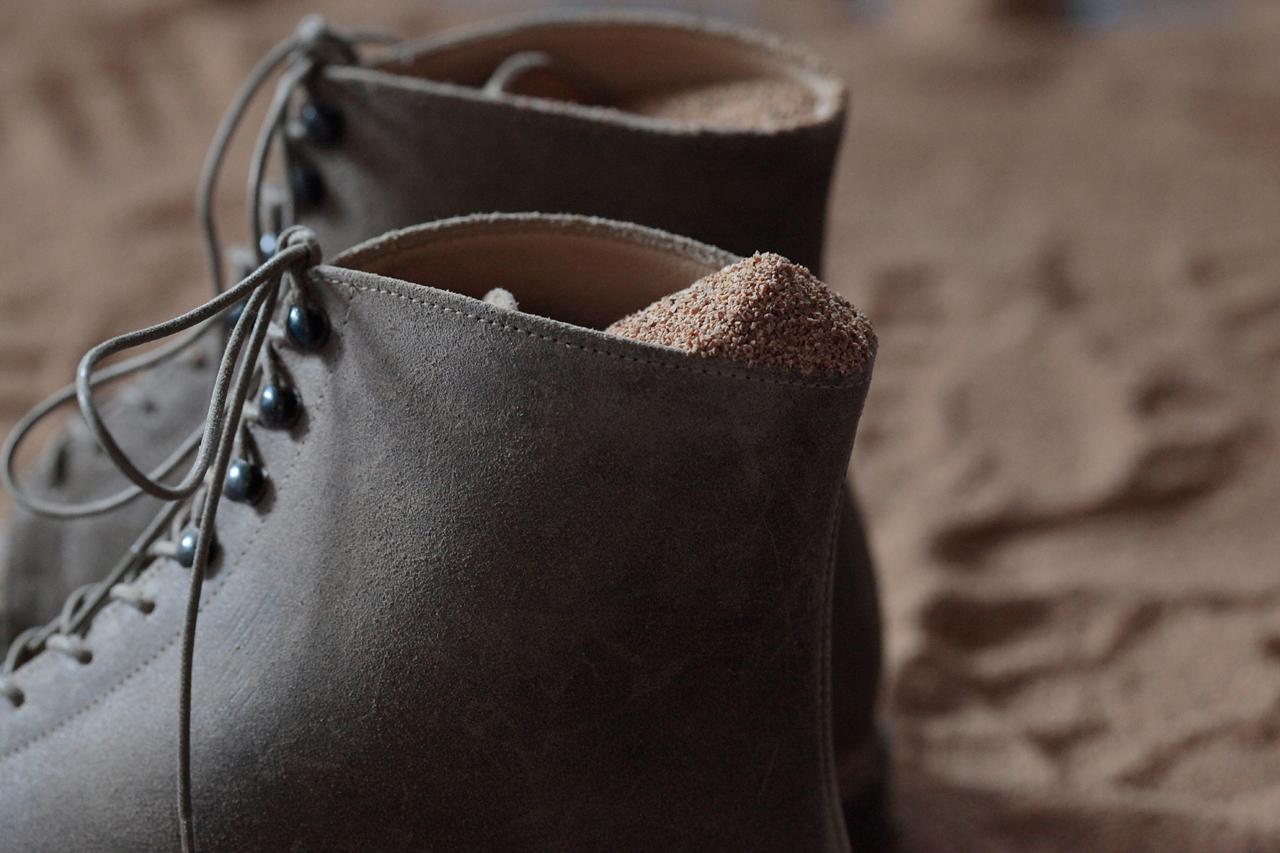 Takahiro Miyashita of TAKAHIROMIYASHITATheSoloIst. and Takayuki Fuji of nonnative Launch Sand.W.Man Footwear Collection