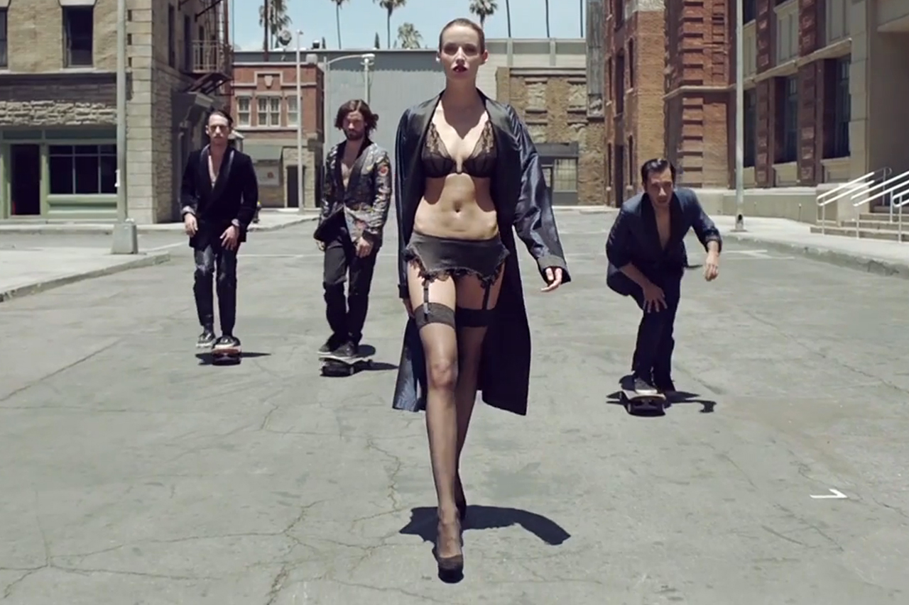 "Skateboarding and Lingerie Models Meet in ""New York La La La"" L'Official Homme Editorial"