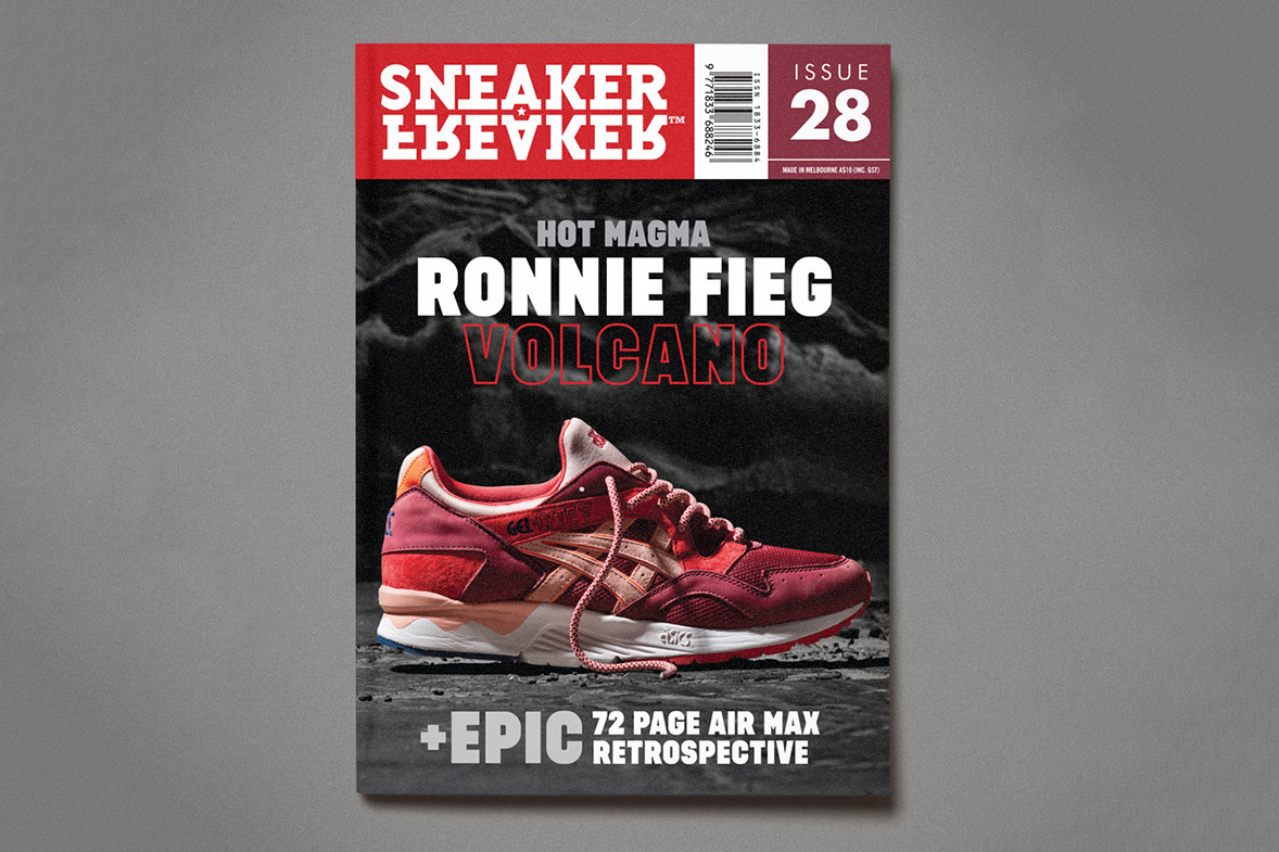 "Sneaker Freaker Issue 28 Previews Ronnie Fieg x ASICS Gel Lyte V ""Volcano"""