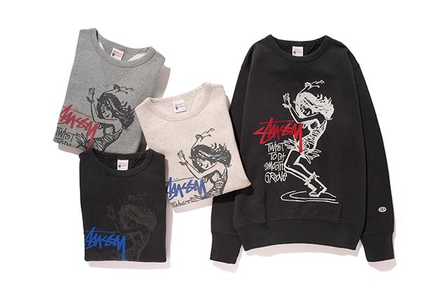 Stussy x Champion 2013 Fall Sweatshirts