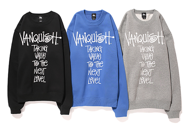 vanquish x stussy 2013 fall winter message crew
