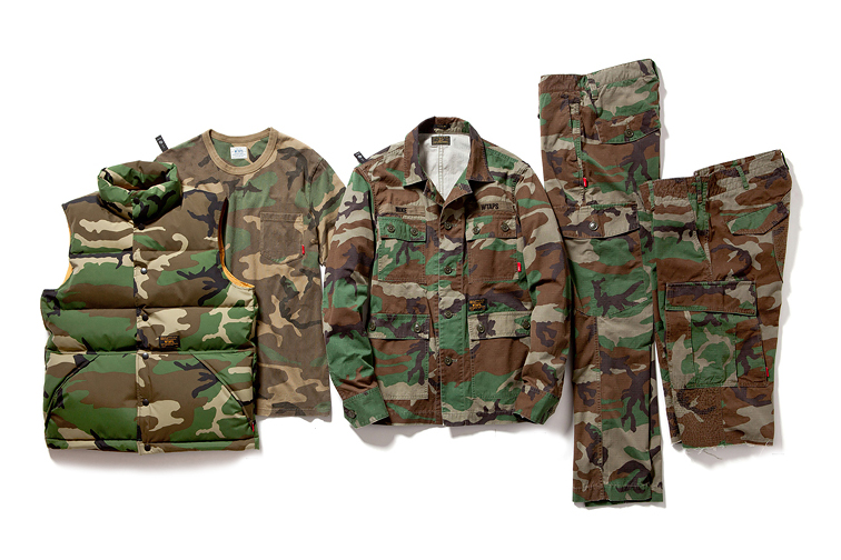 wtaps 2013 fall winter woodland camouflage collection