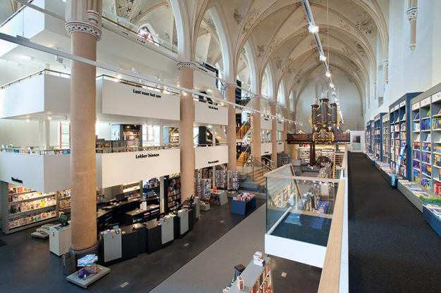 15th century dominican church repurposed as a dazzling bookstore