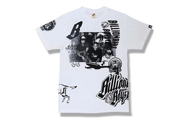 billionaire boys club 10th anniversary collage t shirt