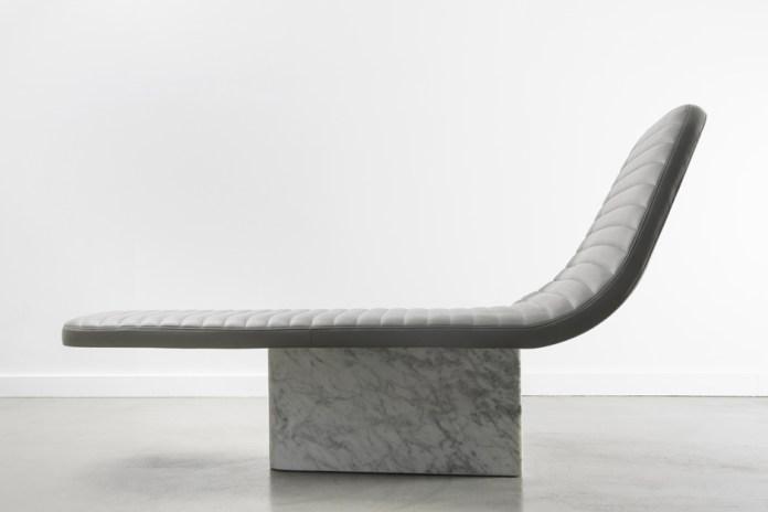 Grégoire de Lafforest Leather & Marble Lounge Chair